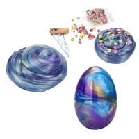 Colorful Mix Color Crystal Egg Soft Slime Mud Putty Clay With Fruit Slices