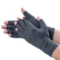 1Pair Men Women Therapy Compression Gloves Hand Pain Relief Half-finger Gloves