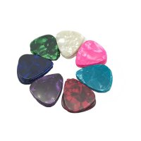 105 Pcs Celluloid Musical Instrument Pick Guitar Ukulele Pick With Plastic Box