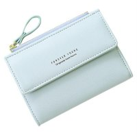 Anti-Theft Two Folding Women Wallet Simple Ladies Purse Hasp Girl Wallet