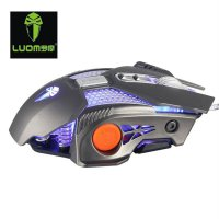 -LM730 8 Buttons Wired Computer Gaming Mouse 3200 DPI Ergonomic Grip