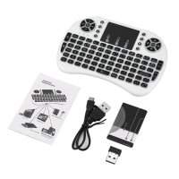 2.4GHz Mini Wireless Remote Keyboard with Touchpad Mouse 3 Color Backlight