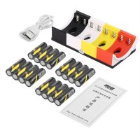 16pcs Rechargeable Batteries+8 Slots AA & AAA Ni-MH Charger+USB Cable