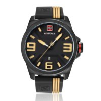 9098 Men 3ATM Waterproof Wrist Watch Rubber Wristband Sports Watch