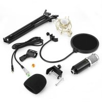 Audio Vocal Studio Condenser Microphone Set 3.5MM Wired Computer Microphone