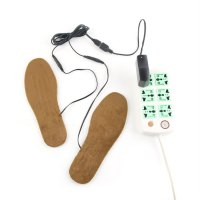 1 Pair Cuttable Winter Boot Insoles USB Heated Foot Warmer Winter Shoes Pads