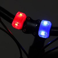 3-Mode 2-LED Bike Bicycle Cycling Head Front Light Rear LED Flash Lamp