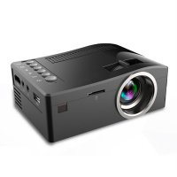 UC18 Portable Projector With HDMI TF Card USB LED For Home Theater US Plug