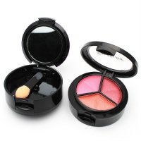 3 Color Eye Shadow Palette Shimmer Matte Pigment Glitter Makeup Cosmetics Tool