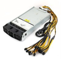 2880W Server PSU+2x10 PCI-E Harness Power Supply for Two(x2) Antminer S9/S7/L3+