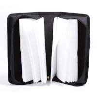 128 Disc CD Box DVD Storage Case Carrying Bag Organizer PU Leather Holder