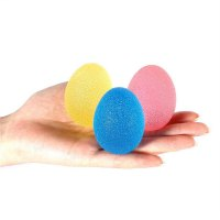 3pcs Hand Finger Grip Strengthen Resistance Exercise Squeeze Therapy Egg Balls