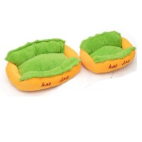 Hot Dog Shaped Dog Bed Pet Sofa Soft Cushion Cozy Nest Kennel Pet Supplies