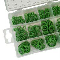 270PCS Green Rubber O-Ring Assortment Oil Seal Gaskets For Air Cylinder Valve