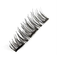 1 Set False Eyelashes Three Magnet Glue Free Fake Eye Lashes Hand Made Lashes