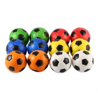 12PCS Football Stress Relief Sponge Foam Balls Hand Exercise Squeeze Toy