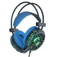 H6 Cracked Pattern Video Game Headset Super Bass with Mic LED Light for PC for Phone