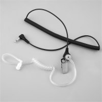 3.5mm Silicon Acoustic Air Tube Curly Cable Headset Anti Radiation for Phones