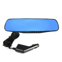 "2.7"" Antiglare Rear View Mirror Tachograph Blue Glass Vehicle Data Recorder"
