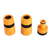 3pcs/set Garden Water Hose Pipe Fitting Set Yellow Water Hose Pipe Connector