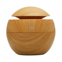 130ML Portable Wooden Home Office Aroma Essential Oil Diffuser Humidifier