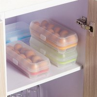 10 Cells Eggs Space-saving Fresh Box Storage Container Case Plastic Crisper