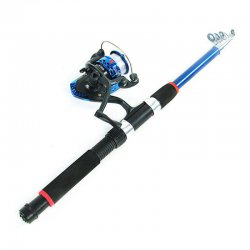 1.8M 2.1M 2.4M 2.7M 3M Telescopic Fiberglass Fish Pole With 200 Fishing Reel
