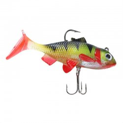 1pc Colourful 8cm Soft Bait Lead Head Fish Lures Fishing Tackle Hook New