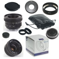 25mm f/1.4 C-Mount Lens For APS-C Camera nex nex3 nex5 + C-NEX adapter + lens hood + Macro Ring*2+ ...