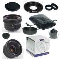 25mm F1.4 C-Mount Lens For APS-C Camera Can EOS M + C-EOS M adapter+ Macro Rings*2+ lens hood+ EOS ...