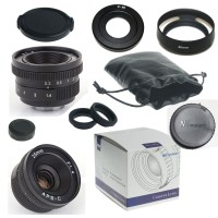 25mm f/1.4 mirrorless for APS-C Camera Nikon 1 + C-Nikon 1 adapter + lens hood + Macro Ring*2+ ...