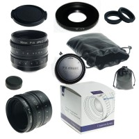 35mm f/1.6 33mm f1.6 mirrorless for APS-C Camera for Fuji FX X-E2 X-E1 X-Pro1 + C-FX adapter + lens hood