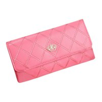 Comfortable Crown Women Long Wallets PU Leather Hand Bag Fashion Ladies Purse