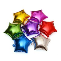 10 Inch Aluminum Film Five-pointed Star Shape Balloon Non-toxic Party Decor