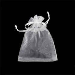 100pcs White 7x9cm Drawstring Organza Pouch Gift DIY Package Jewelry Party Bags