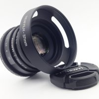 35mm f/1.6 CCTV mini lens for all Pentax PQ Mount mirro Camera & hood Adapter 7 in 1 kit