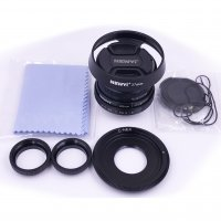 25mm f/1.8 CCTV mini lens for all NEX Mount mirro Camera & hood Adapter 7 in 1 kit