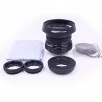 25mm f/1.8 CCTV mini lens for all Pentax PQ Mount mirro Camera & hood Adapter 7 in 1 kit
