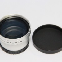 30.5mm 2.0x TELE Telephoto LENS for Camcorder 30.5 mm 2x Silver