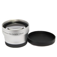 37mm 2.0x TELE Telephoto LENS for Camcorder 37 mm 2x Silver
