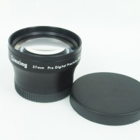 37mm 2.0x TELE Telephoto LENS for Camcorder 37 mm 2x Black