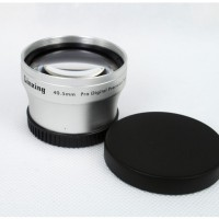 40.5mm 2.0x TELE Telephoto LENS for Camcorder 40.5 mm 2x  Silver