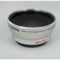 43mm 0.45x WIDE Angle + Macro Conversion LENS 43 0.45 Silver