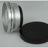 46mm 2.0x TELE Telephoto LENS for Camcorder 46 mm 2x  Silver