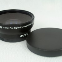 52mm 0.45x WIDE Angle + Macro Conversion LENS 52 0.45 Black