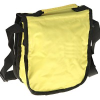 Waterproof Padded Soft Protective Carrying Bag Case M-size with Velcro Closure for Digital Camera - Yellow