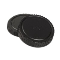 Body Cap + Lens Rear Cover Cap For Samsung NX Mount Digital Camera