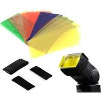 Universal Speedlite 12pcs Color Filter Kit For Nikon Canon Godox YONGNUO Flash