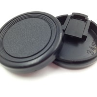 2PCS 34mm Snap on Lens Cap for Mini DV Camcorder