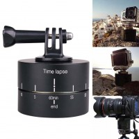 360 Degree Rotation Panorama Time Delay Stabilizer Camera Mount Tripod